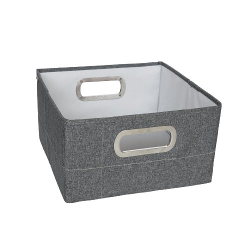 JJ Cole Heather Storage Box, Slate, 6.5""