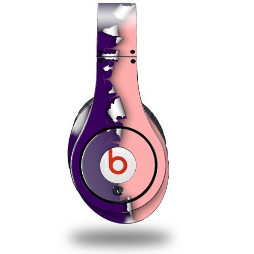 Ripped Colors Purple Pink Decal Style Skin (Fits Original Beats Studio Headphones - Headphones Not Included)