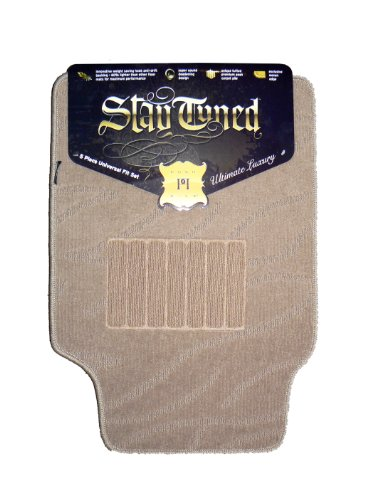 Posh Pile Stay Tuned Car Mats 5 Piece Set - Tan