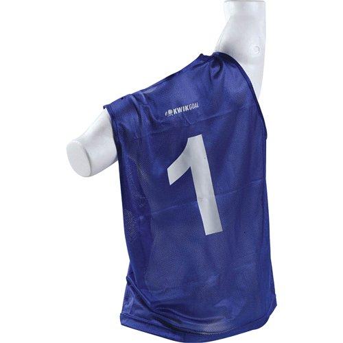 Kwik Goal Numbered Vest (Royal, Adult)