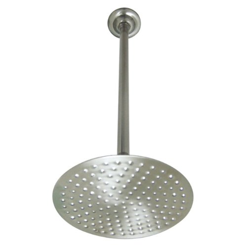 Kingston Brass Victorian Raindrop 8-inch Shower Head with 17-inch Ceiling Support, Satin Nickel Finish (Rain Shower Head Victorian compare prices)