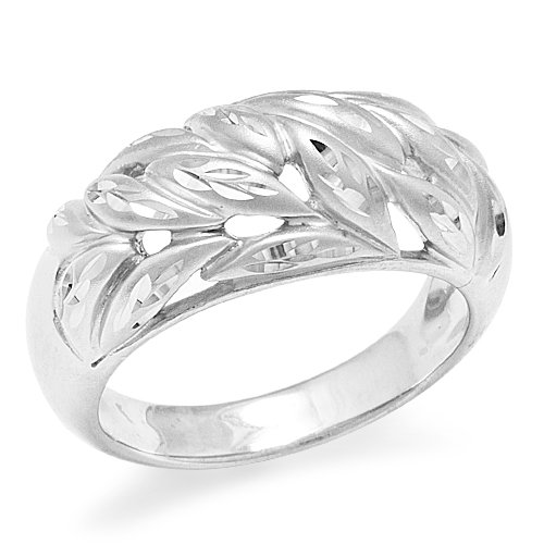 Maile Leaf Ring in Sterling Silver