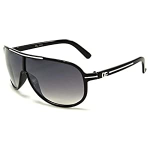 DG Aviators Men Women Sunglasses Plastic Discount Designer Shades Black White-Black-White