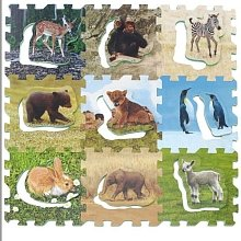 Cheap Discovery Communications Animal Planet Pop-Outs Puzzle (Foam) – 9 interlocking 12 x 12 foam animal squares (B003OEU4B4)