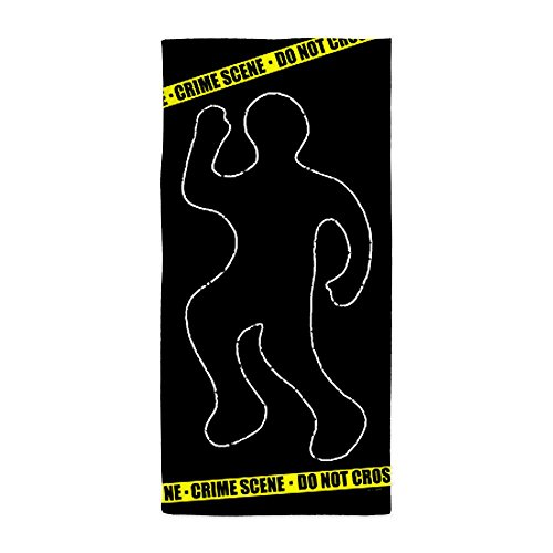 CafePress Crime Scene Beach Towel - Standard White