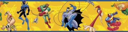 RoomMates RMK1460BCS Batman: the Brave and the Bold Peel & Stick Border