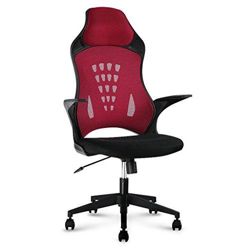 LANGRIA-Brostuhl-Hoch-Back-Schreibtischstuhl-Drehstuhl-Computer-Gitter-Synchro-Tilt-130-Kg-Kapazitt-Rot