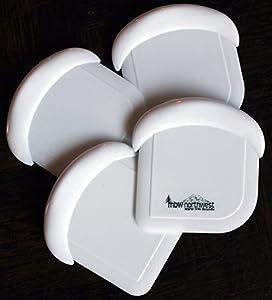 Nylon Plastic Pot, Pan & Dish Scraper, Set of 4, White