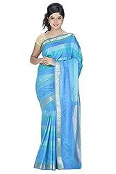 Srinidhi Silks Blue Silk Sari (Ssi 005 shrindi)