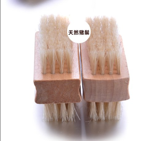 Pamper Your Soul ! 2Pcs/Set 2-Side Nail Brush W/Elegant Wood And In A Beautiful Box Pack ,Nicely Hand-Held And 100% Pure Boar Bristle To Clean Your Finger And Toe Nail,Size At 25Mm X 77Mm ,Convenient For Holding,Super Saving , 100% Satisfaction Guaranteed front-59197