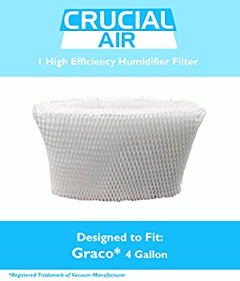 Crucial Air Graco Humidifier Filter, 4-Gallon, Fits Model 2H02 and TrueAir 05521