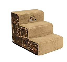 Dallas Manufactuirng Co. 3 Step Home Décor Pet Steps, Camo/Tan