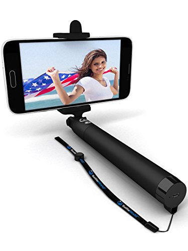 save 50 bluetooth selfie stick made with usa technology for all iphones ios 5 0 all. Black Bedroom Furniture Sets. Home Design Ideas