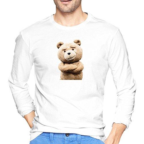 Man Seth MacFarlane Film Ted 2 T Shirts Long-Sleeve (White Collar Season 2 Blu Ray compare prices)