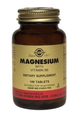 Solgar Magnesium with Vitamin B-6 Tablets - 100 tablets