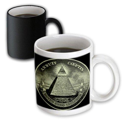 3Drose Illuminati American Money America Magic Transforming Mug, 11-Ounce