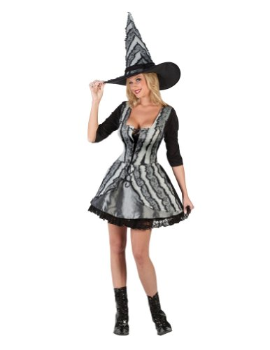 Adult-Costume Adult Goth Rose Witch Sm-Md Halloween Costume