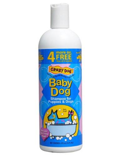Cardinal Laboratories Crazy Dog Baby Powder Shampoo For Dogs, 16-Ounce