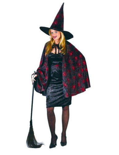 Witch Glitter Chip Orange Adult Womens Costume