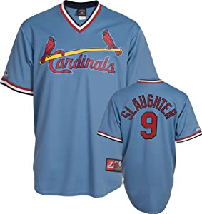 Enos Slaughter St Louis Cardinals Replica Cooperstown Jersey by Majestic by Majestic