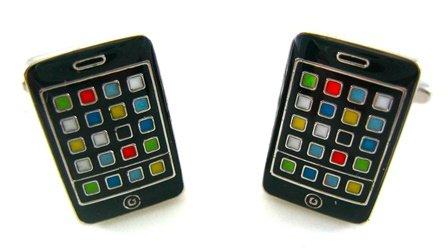 Black Smart Phone Cufflinks