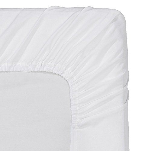 Fitted Sheet - King - White - Deep Pocket Brushed Velvety Microfiber, Breathable, Extra Soft and Comfortable - Wrinkle, Fade, Stain and Abrasion Resistant - by Utopia Bedding (Fitted Bed Sheet King compare prices)