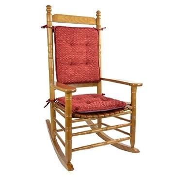 Rocking Chair Cushion Set Red Cushions Pillows