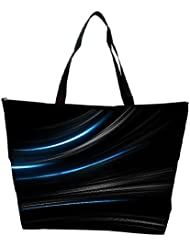 Snoogg Blue Light In Black Background Designer Waterproof Bag Made Of High Strength Nylon