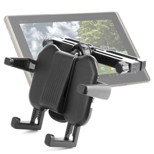 Duragadget Expandable In-Car Firm Grip Headrest Cradle Mount For Asus Fonepad, Google Nexus 7 Tablet, Transformer Infinity, Transformer Pad Tf300T front-1078025