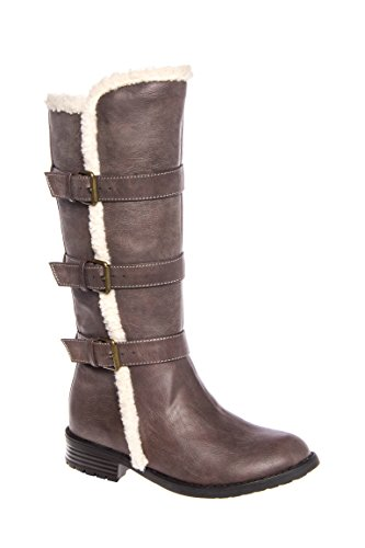 Girl's Ba Ba Shearling Low Heel Boot