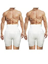 AARPS Seamless Slimming Tummy & Thigh Control Men's Shapewear Pack of 2