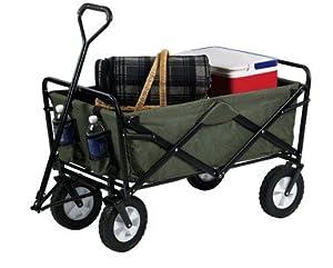 Amazon.com : Mac Sports Folding Green Wagon : Utility Carts : Patio