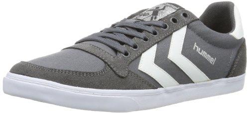 hummel HUMMEL SLIMMER STADIL LOW, Sneaker, Uomo, Grigio (CASTLE ROCK/WHITE), 43