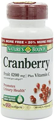 Nature's Bounty Cranberry Fruit 4200 mg, 100 Softgels