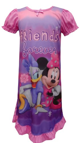 Mickey Mouse Clubhouse Minnie Mouse and Daisy Nightgown for Little Girls