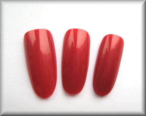 50 Oval Full Cover Artificial/False Nails - Bordeaux Red