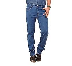 Carrie Men's Regular Fit Jeans (CJ_B202_Blue_36)