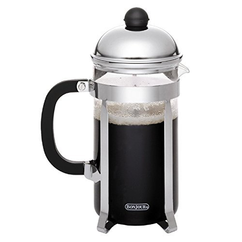 BonJour Coffee Stainless Steel French Press with Glass Carafe, 12.7-Ounce, Monet, Black Handle by BonJour (French Press Bonjour Monet compare prices)