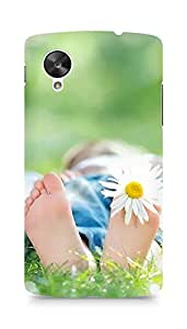 Amez designer printed 3d premium high quality back case cover for LG Nexus 5 (Feet)