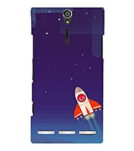 printtech Rocket Meme Sky Back Case Cover for Sony Xperia S Lt26i