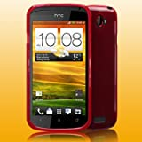 HTC ONE S CHERRY RED GEL SKIN CASE / COVERby Mobyspares