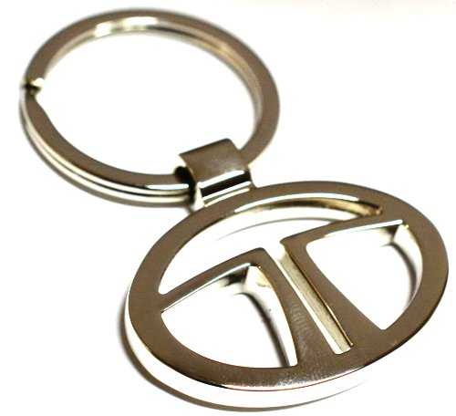 Glow Time Tata Car Logo Keychain – (8cmL x 6cmB, Silver )
