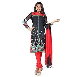 RangoliSF Woman's Cotton Unstitched Dress Material (RSFG1412 Black)