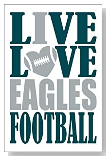 Live Love I Heart Eagles Football lined journal - any occasion gift idea for Philadelphia Eagles fans from WriteDrawDesign.com