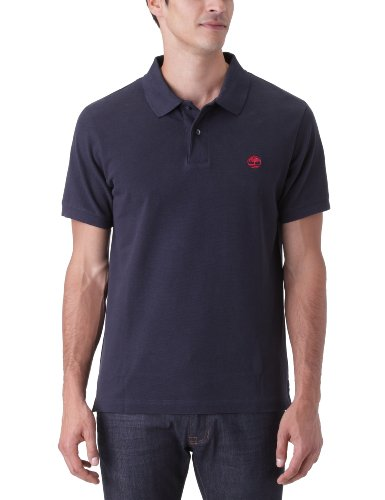 Timberland Pique Polo Men's T-Shirt Dark Navy Small