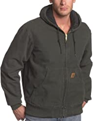 Carhartt Men's Big & Tall Sandstone Active Jac - Quilted Flannel Lined
