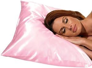 Betty Dain Satin Pillowcase, Pink
