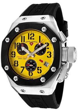 Swiss Legend Men's 10541-07-BB Trimix Diver Collection Chronograph Black Rubber Watch