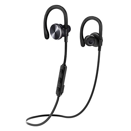 COULAX Bluetooth Headphones Wireless Running Earphones In-Ear Noise Cancelling Sweatproof Headset with Built-In Mic - 8 Hours Playtime for iPhone 6S/Plus Samsung Galaxy S7 Edge and Android