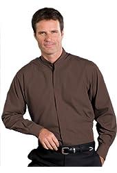 Edwards Garment Men's Long Sleeve Banded Collar Shirt
